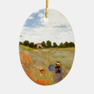 Claude Monet // Wild Poppies Christmas Ornament