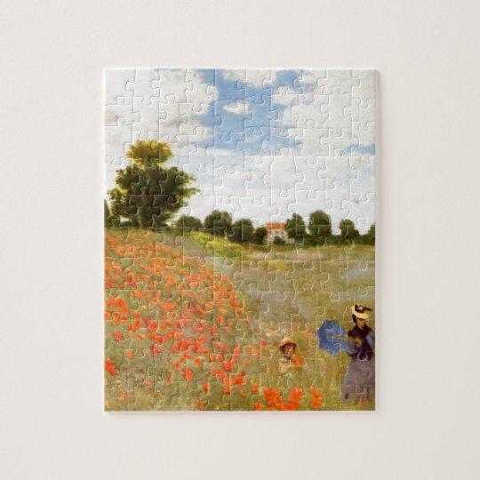Claude Monet // Wild Poppies Jigsaw Puzzle