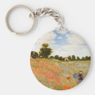 Claude Monet // Wild Poppies Key Ring