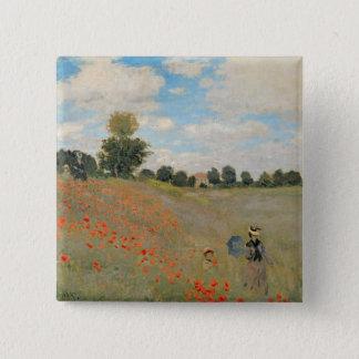 Claude Monet | Wild Poppies, near Argenteuil 15 Cm Square Badge