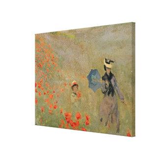 Claude Monet | Wild Poppies, near Argenteuil Canvas Print