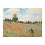 Claude Monet   Wild Poppies, near Argenteuil Canvas Print