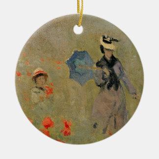 Claude Monet   Wild Poppies, near Argenteuil Christmas Ornament