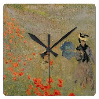 Claude Monet | Wild Poppies, near Argenteuil Clock