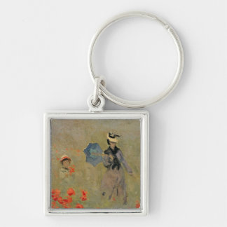 Claude Monet | Wild Poppies, near Argenteuil Key Ring