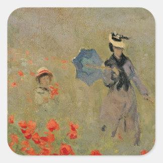 Claude Monet | Wild Poppies, near Argenteuil Square Sticker
