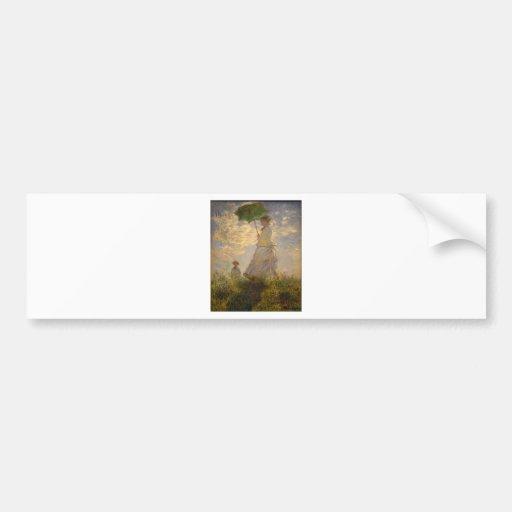 Claude Monet: Woman with a Parasol, 1875 Bumper Sticker