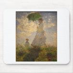 Claude Monet: Woman with a Parasol, 1875 Mouse Pad