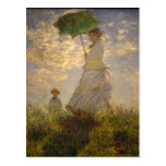 Claude Monet: Woman with a Parasol, 1875. National Post Cards