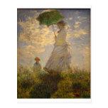 Claude Monet: Woman with a Parasol, 1875 Postcard