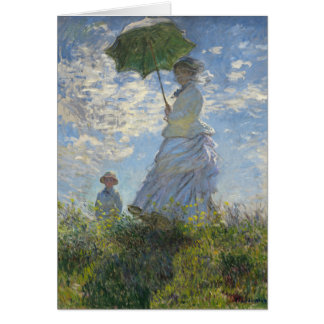 Claude Monet Woman With A Parasol Fine Art Greeting Card