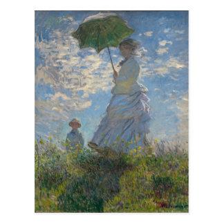 Claude Monet - Woman with a Parasol Postcard
