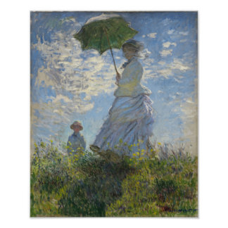 Claude Monet Woman With A Parasol Poster