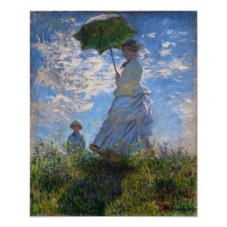 Claude Monet: Woman With a Parasol Poster
