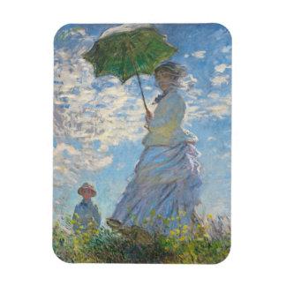 Claude Monet | Woman with a Parasol Rectangular Photo Magnet