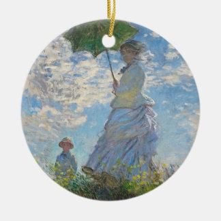 Claude Monet | Woman with a Parasol Round Ceramic Decoration