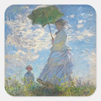 Claude Monet | Woman with a Parasol Square Sticker