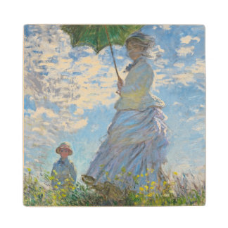 Claude Monet | Woman with a Parasol Wood Coaster