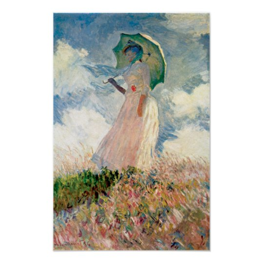 Claude Monet - Woman with Parasol study Poster