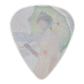 Claude Monet | Woman with Parasol Turned Left Acetal Guitar Pick