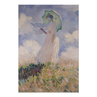 Claude Monet | Woman with Parasol Turned Left Poster