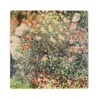 Claude Monet | Women in the Flowers, 1875 Wood Coaster
