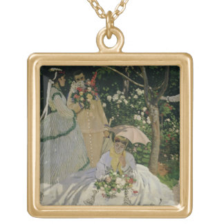 Claude Monet | Women in the Garden Gold Plated Necklace