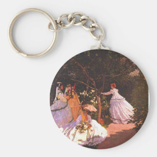 Claude Monet Women in the Garden Key Chains