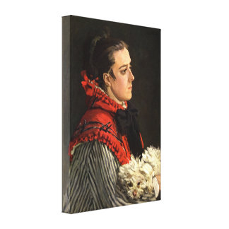 Claude Monet - Women with Dog Stretched Canvas Prints