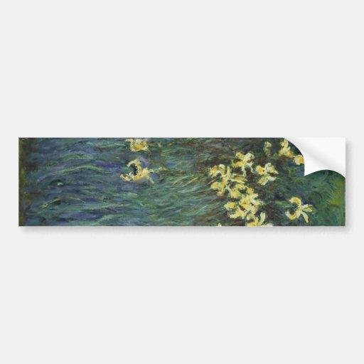 Claude Monet - Yellow Irises Bumper Sticker