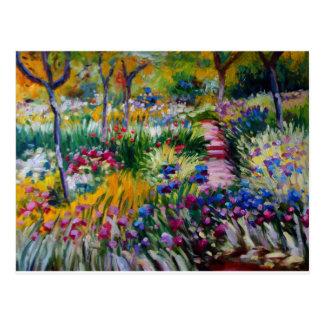 Claude Monet's Iris Garden Postcard