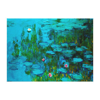 Claude Monet's Vintage Nympheas Water Lily Canvas Print