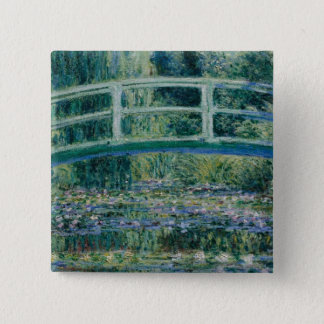 Claude Monet's Water Lilies and Japanese Bridge 15 Cm Square Badge