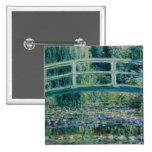 Claude Monet's Water Lilies and Japanese Bridge 15 Cm Square Badge