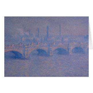 Claude Monet's Waterloo Bridge Card
