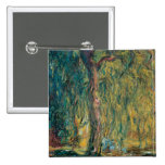 Claude Monet's Weeping Willow 15 Cm Square Badge
