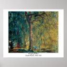 Claude Monet's Weeping Willow Poster