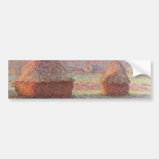 Claude Monet's White Frost Sunrise (1889) Car Bumper Sticker