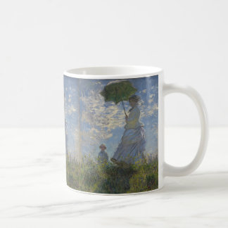 Claude Monet's Woman with a Parasol Basic White Mug