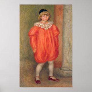 Claude Renoir in a clown costume, 1909 Poster