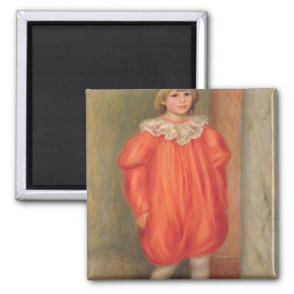 Claude Renoir in a clown costume, 1909 Square Magnet