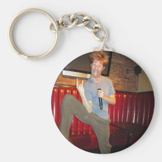 Claude Stuart ~ Rock n Roll Comedy! Basic Round Button Key Ring