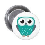 Claude the Little Owl 6 Cm Round Badge