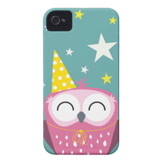 Claudette Party Owl iPhone 4 Case-Mate Cases