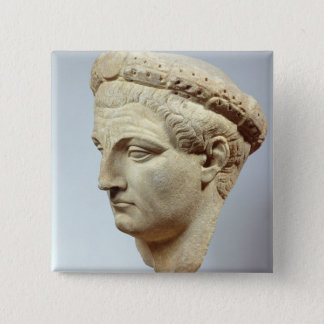Claudius, marble head, 41-54 AD 15 Cm Square Badge