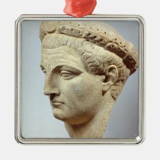 Claudius, marble head, 41-54 AD Christmas Ornament