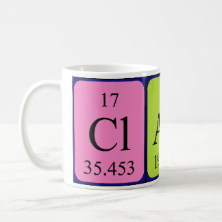 Claus periodic table name mug
