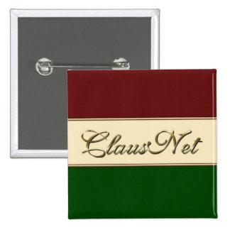 ClausNet Member 15 Cm Square Badge