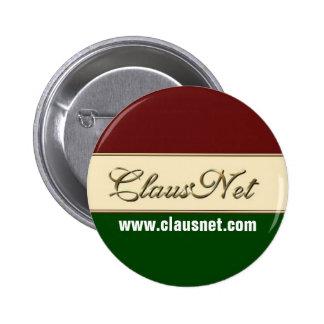 ClausNet Member button, www.clausnet.com 6 Cm Round Badge