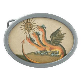 Clavis Artis Alchemy Dragons Belt Buckle